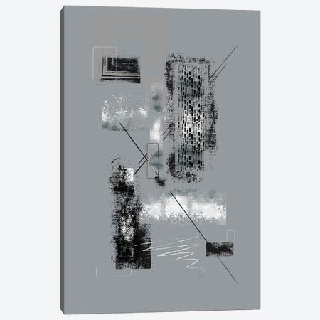 Dynamic Art No. 6 Silver - Easy Going Canvas Print #MEV717} by Melanie Viola Art Print