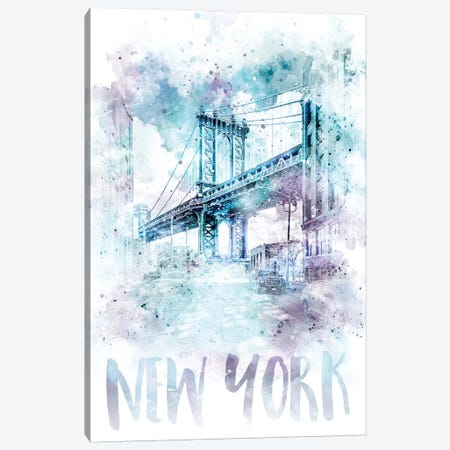 Modern NYC Manhattan Bridge  Canvas Print #MEV71} by Melanie Viola Canvas Print