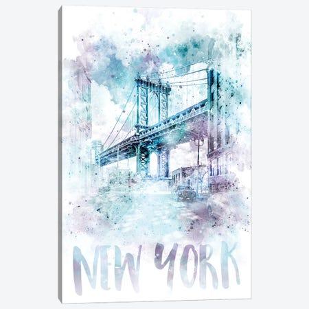 Modern NYC Manhattan Bridge  Canvas Print #MEV71} by Melanie Viola Canvas Print