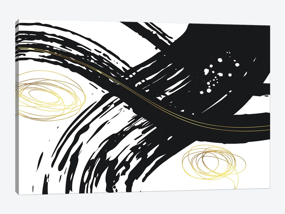 Abstract Painting No. 56 - Powerful Lines by Melanie Viola 1-piece Canvas Artwork