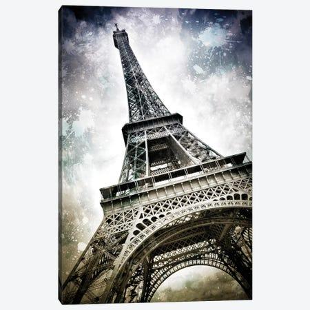 Modern Paris Eiffel Tower Splashes Canvas Print #MEV72} by Melanie Viola Art Print