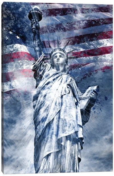 Modern Statue Of Liberty Canvas Art Print