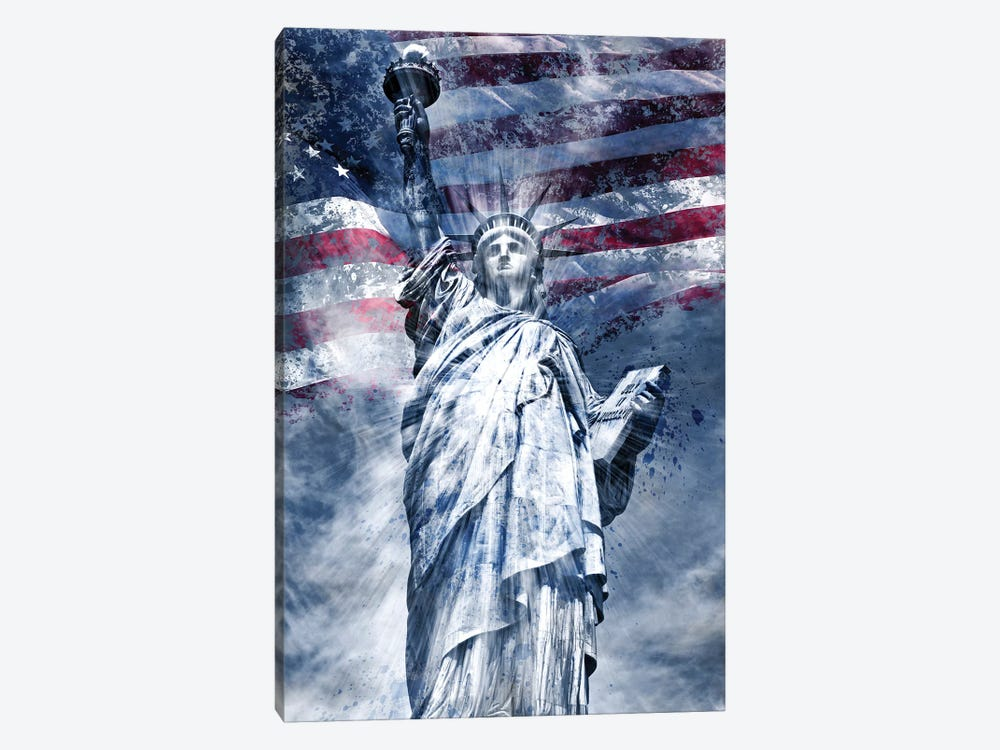 Modern Statue Of Liberty by Melanie Viola 1-piece Canvas Wall Art