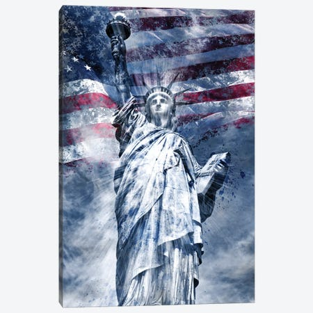 Modern Statue Of Liberty Canvas Print #MEV73} by Melanie Viola Art Print