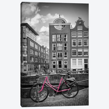 Amsterdam Bloemgracht | Colorkey Canvas Print #MEV747} by Melanie Viola Canvas Art