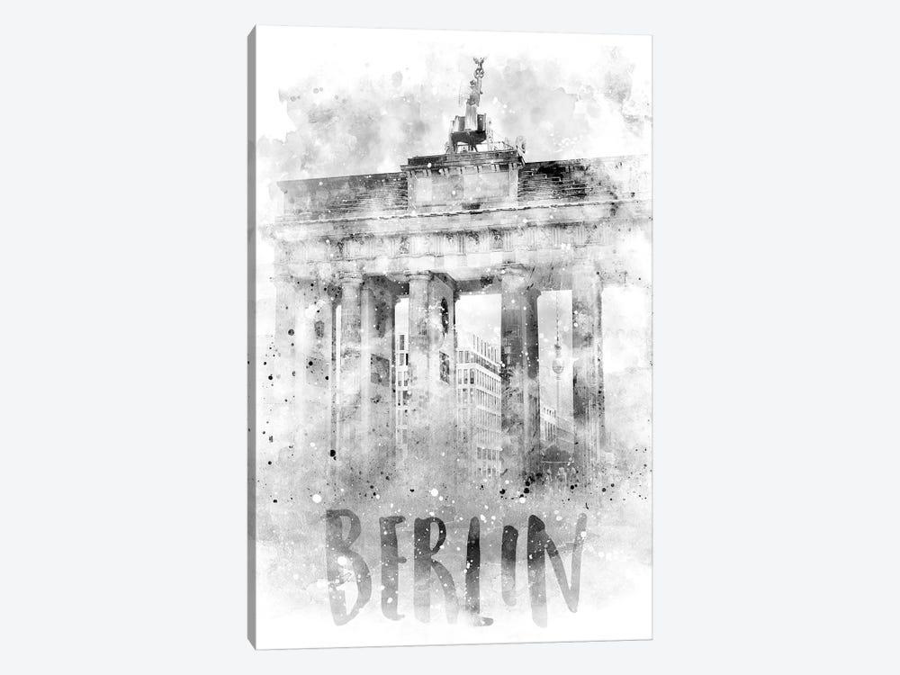 Monochrome Berlin Brandenburg Gate  by Melanie Viola 1-piece Canvas Print