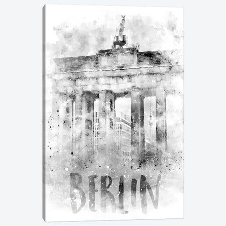 Monochrome Berlin Brandenburg Gate  Canvas Print #MEV74} by Melanie Viola Canvas Wall Art