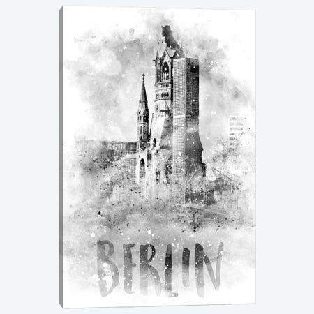 Monochrome Berlin Kaiser Wilhelm Memorial Church Canvas Print #MEV75} by Melanie Viola Canvas Art