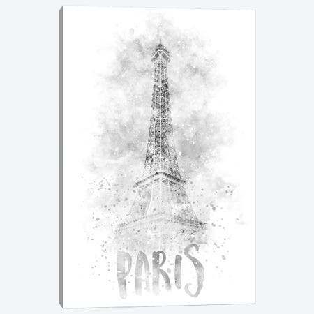 Monochrome Eiffel Tower Canvas Print #MEV77} by Melanie Viola Canvas Art