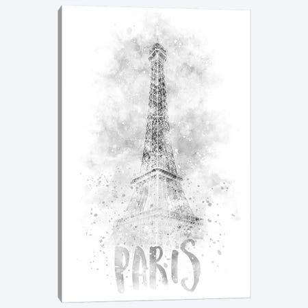 Monochrome Eiffel Tower Canvas Print #MEV77} by Melanie Viola Canvas Art