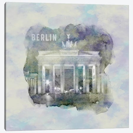 Berlin Brandenburg Gate  Canvas Print #MEV7} by Melanie Viola Art Print