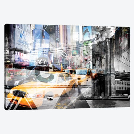 New York City Geometric Mix No. 9 Canvas Print #MEV82} by Melanie Viola Canvas Art