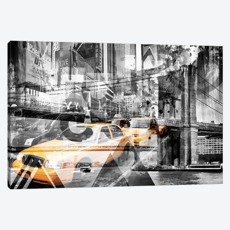 New York City Geometric Mix No. 9 Colorkey Canvas Print #MEV83} by Melanie Viola Canvas Wall Art
