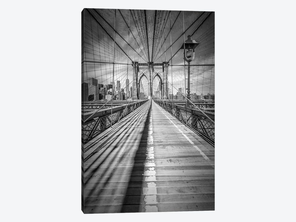 New York City Brooklyn Bridge by Melanie Viola 1-piece Canvas Art