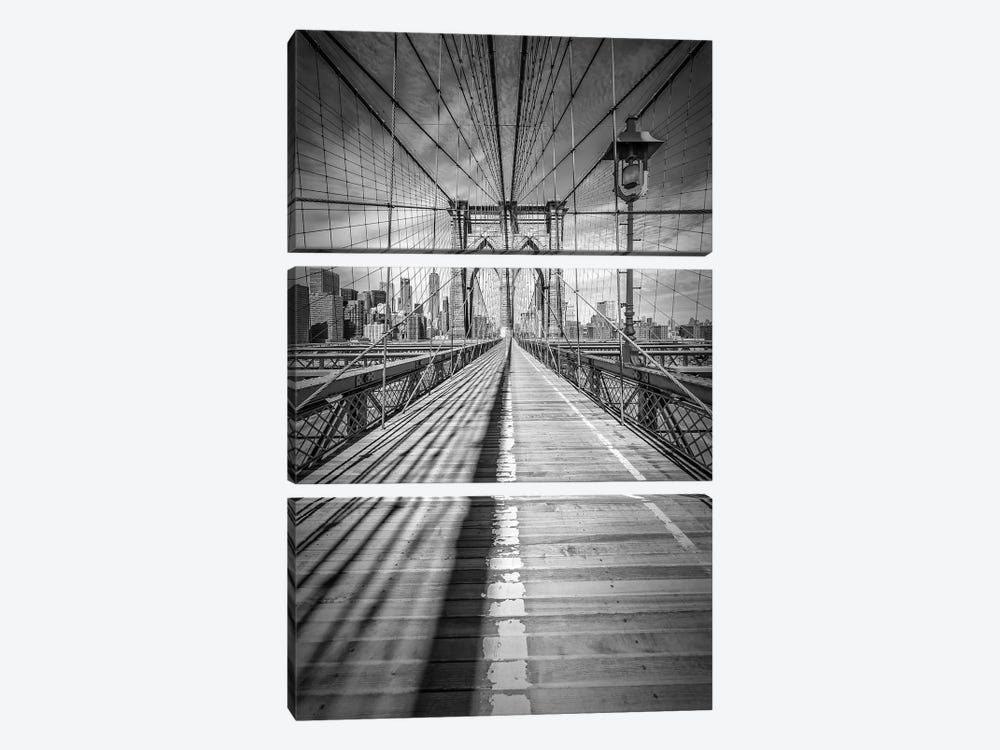 New York City Brooklyn Bridge by Melanie Viola 3-piece Canvas Art