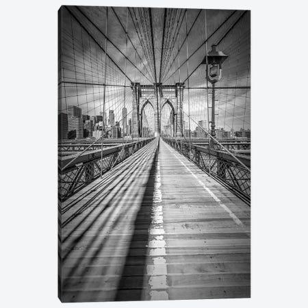 New York City Brooklyn Bridge Canvas Print #MEV84} by Melanie Viola Art Print