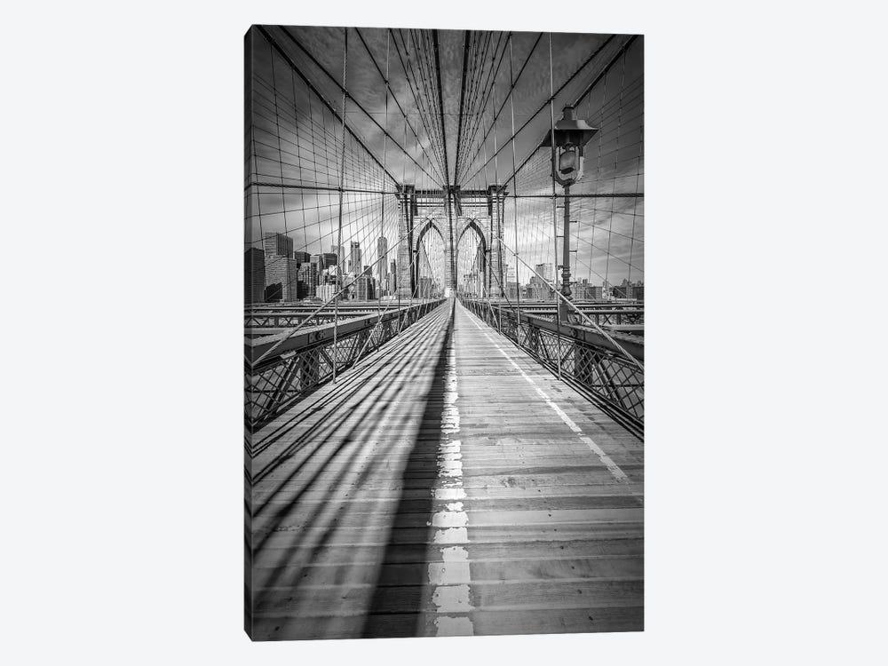New York City Brooklyn Bridge by Melanie Viola 1-piece Canvas Art