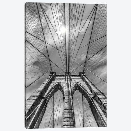 New York City Brooklyn Bridge In Detail Canvas Print #MEV86} by Melanie Viola Canvas Print