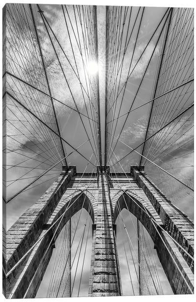 New York City Brooklyn Bridge In Detail Canvas Art Print