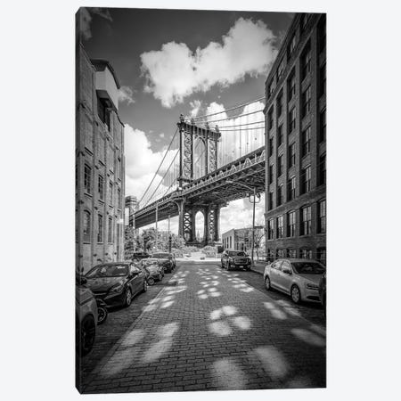 New York City Manhattan Bridge Canvas Print #MEV87} by Melanie Viola Canvas Art Print