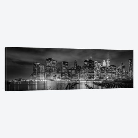 New York City Monochrome Night Impressions Canvas Print #MEV89} by Melanie Viola Canvas Art