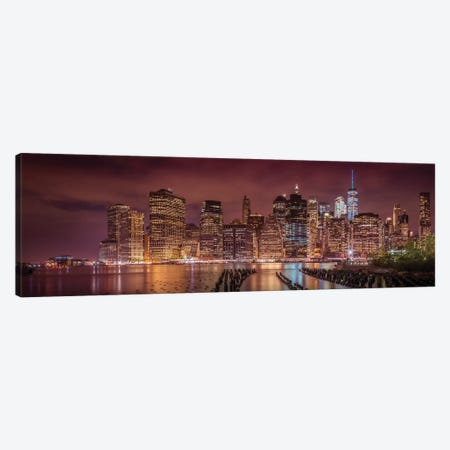 New York City Nightly Impressions Canvas Print #MEV90} by Melanie Viola Art Print