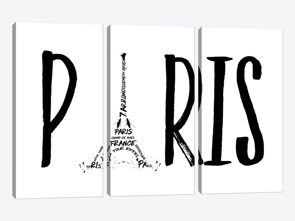 Paris Typography by Melanie Viola 3-piece Art Print