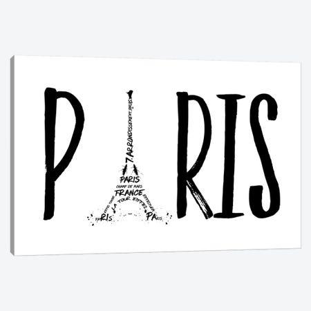 Paris Typography Canvas Print #MEV94} by Melanie Viola Canvas Artwork