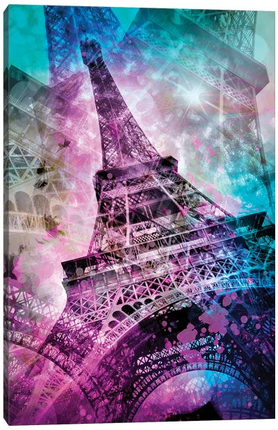 Pop Art Eiffel Tower Canvas Art Print