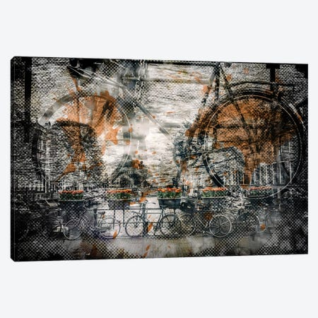 Amsterdam Bicycles Canvas Print #MEV9} by Melanie Viola Canvas Art