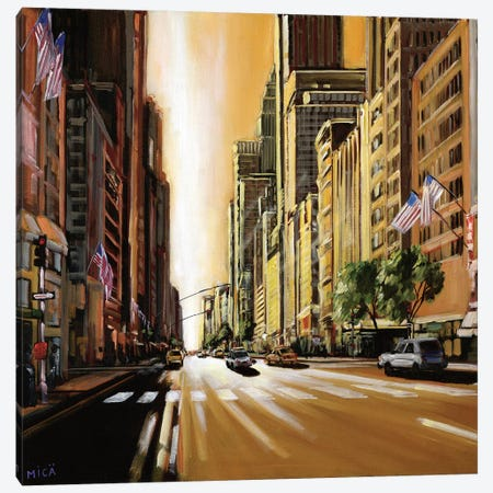 Light of Manhattan Canvas Print #MEY3} by Mica Art Print