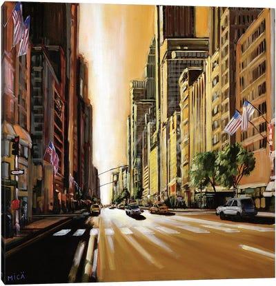 Light of Manhattan Canvas Art Print