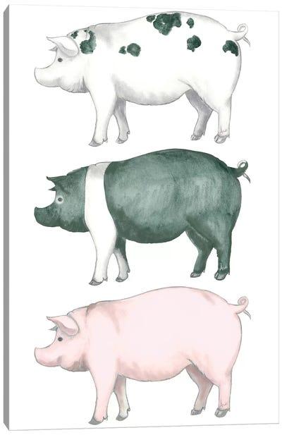 Piggy Wiggy Set Canvas Art Print