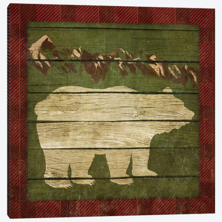 Rustic Nature on Plaid I Canvas Print #MEZ20} by Andi Metz Canvas Wall Art