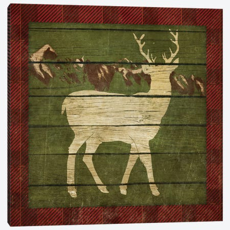 Rustic Nature on Plaid II Canvas Print #MEZ21} by Andi Metz Canvas Art