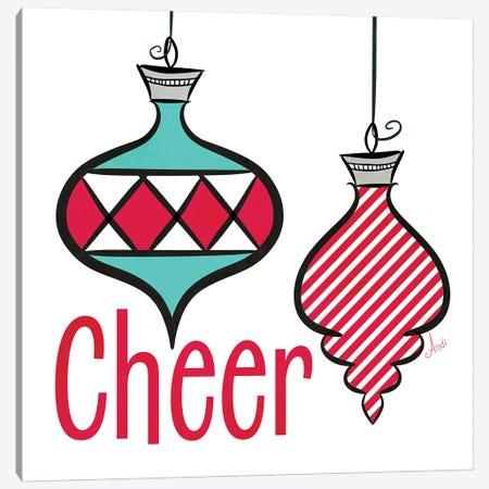 Joyful Christmas Ornaments I Canvas Print #MEZ34} by Andi Metz Canvas Artwork