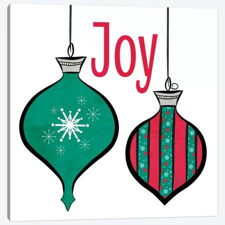 Joyful Christmas Ornaments II Canvas Print #MEZ35} by Andi Metz Canvas Wall Art