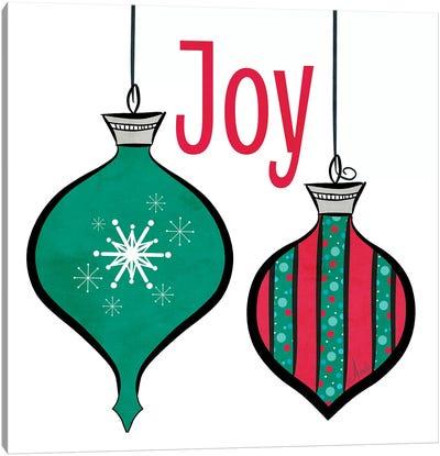 Joyful Christmas Ornaments II Canvas Art Print