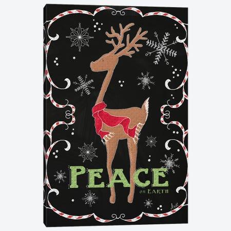 Peace on Earth Deer Canvas Print #MEZ38} by Andi Metz Art Print