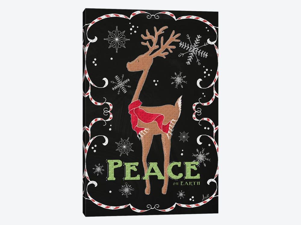 Peace On Earth Deer Canvas Art Print By Andi Metz Icanvas