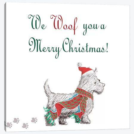Woof Holiday Pack II Canvas Print #MEZ52} by Andi Metz Art Print