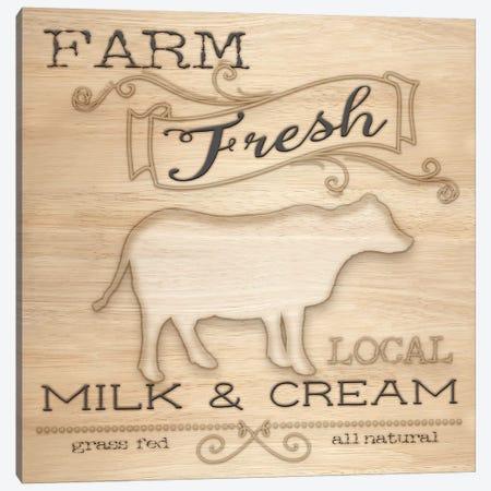 Country Organic Dairy I Canvas Print #MEZ5} by Andi Metz Art Print