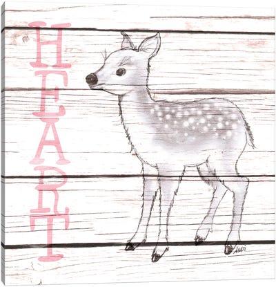 Deer Heart Canvas Art Print