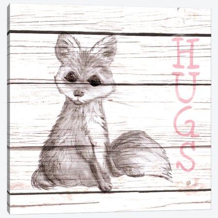 Fox Hugs Canvas Print #MEZ62} by Andi Metz Canvas Wall Art