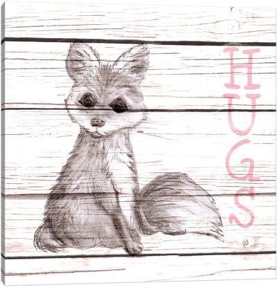 Fox Hugs Canvas Art Print