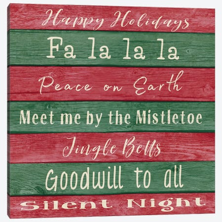 Holiday Chants I Canvas Print #MEZ70} by Andi Metz Canvas Print