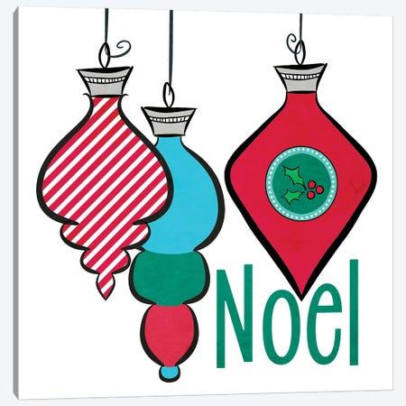 Joyful Christmas Ornaments III Canvas Print #MEZ77} by Andi Metz Canvas Art