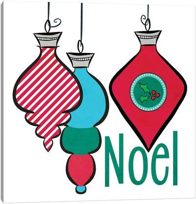 Joyful Christmas Ornaments III Canvas Art Print