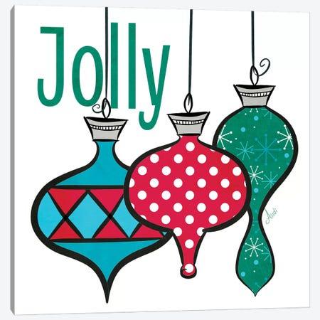 Joyful Christmas Ornaments IV Canvas Print #MEZ78} by Andi Metz Art Print