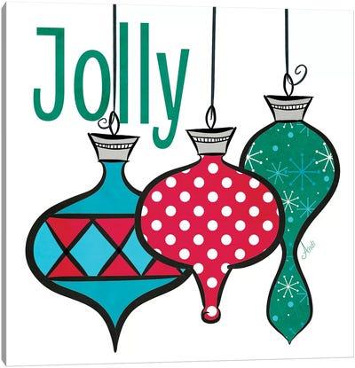 Joyful Christmas Ornaments IV Canvas Art Print
